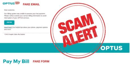 Optus通过ACMA发送电子邮件诈骗警告